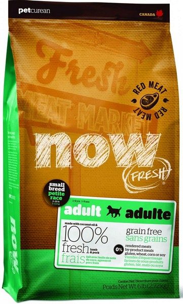 NOW Natural holistic Fresh Small Breed Recipe Red Meat Grain Free 27/17 / Сухой корм Нау Фреш Беззерновой для собак Мелких пород Всех возрастов Ягненок Овощи