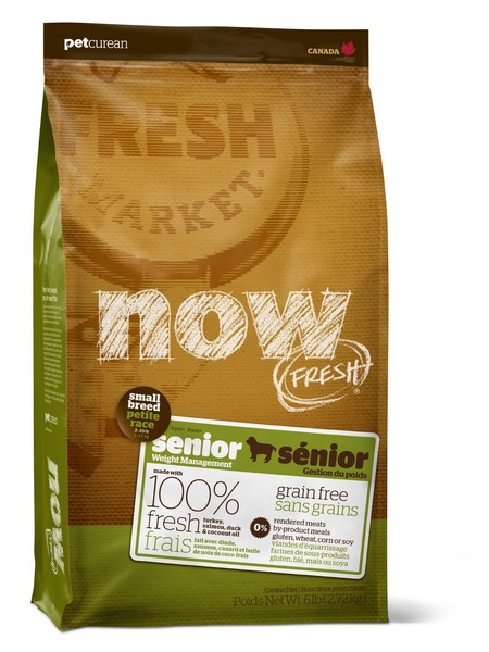 NOW Natural holistic Fresh Senior Small Breed Recipe Grain Free 24/11 / Сухой корм Нау Фреш Беззерновой для Пожилых собак Мелких пород Индейка Утка Овощи