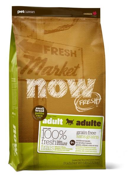NOW Natural holistic Fresh Small Breed Adult Recipe Grain Free 27/17 / Сухой корм Нау Фреш Беззерновой для взрослых собак Мелких пород Индейка Утка Овощи