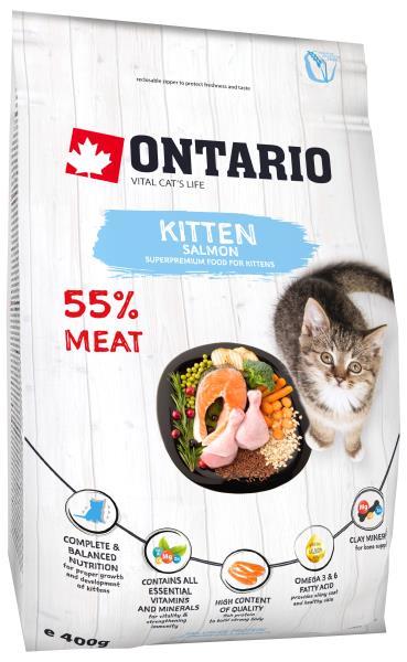 Ontario Kitten Salmon / Сухой корм Онтарио для Котят с Лососем