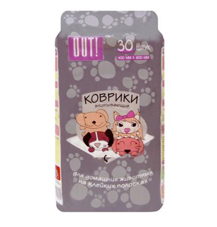OUT! / Впитывающие коврики Аут для домашних животных на Клейких полосках