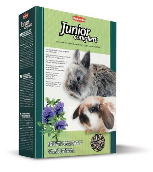 Padovan Junior coniglietti / Корм Падован для кроликов и молодняка Комплексный Основной