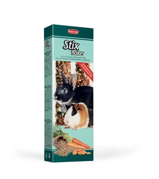 Padovan Stix Flakes coniglietti / Лакомство Падован для кроликови морских свинок палочки Овощные
