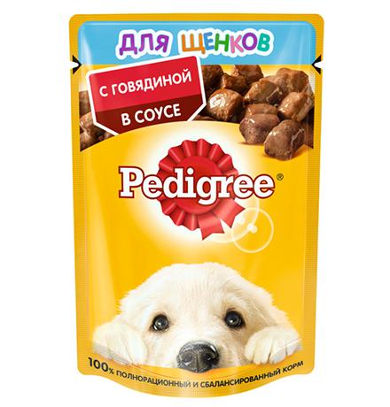 Pedigree / Паучи Педигри для Щенков с Говядиной в соусе (цена за упаковку)