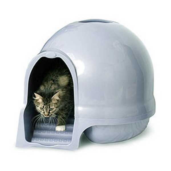 Petmate Booda Dome Cleanstep Cat Box / Туалет-купол Петмейт с Лесенкой Чистые лапки Пластик