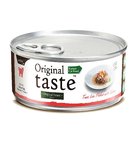 Pettric Original Taste Tuna Loin Flakes & Wild Salmon in Sauce / Беззерновые консервы Петрик для кошек Тунец с лососем в соусе (цена за упаковку)