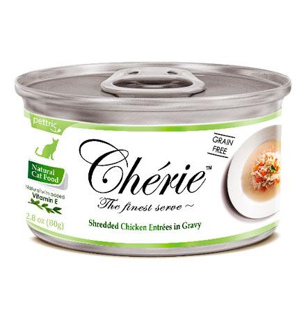 Pettric Cherie Grain free Chicken Entrees in gravy / Беззерновые консервы Петрик для кошек Курица с овощами (цена за упаковку)