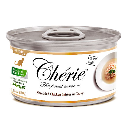 Pettric Cherie Grain free Chicken Entrees in gravy / Беззерновые консервы Петрик для кошек Курица (цена за упаковку)