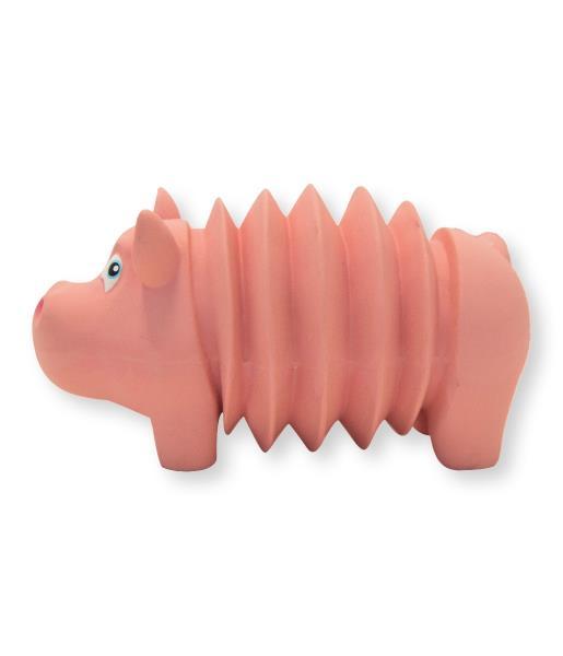 Petstages OH Accordionz / Игрушка Петстейджес для собак Свинка Латекс с Пищалкой