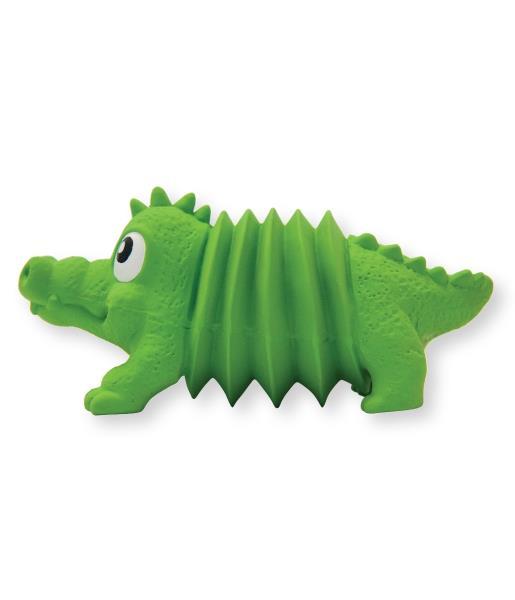 Petstages OH Accordionz / Игрушка Петстейджес для собак Крокодил Латекс с Пищалкой
