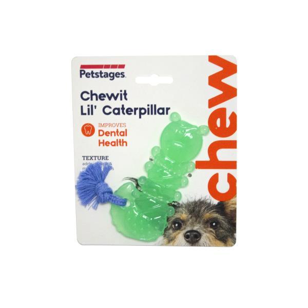 Petstages Mini Chewit Lil' Caterpillar Orka / Игрушка Петстейджес для собак Гусеница