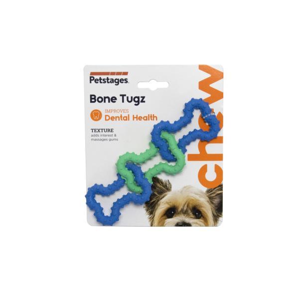 Petstages Bone Tugz Blu Orka / Игрушка Петстейджес для собак Комбо косточки