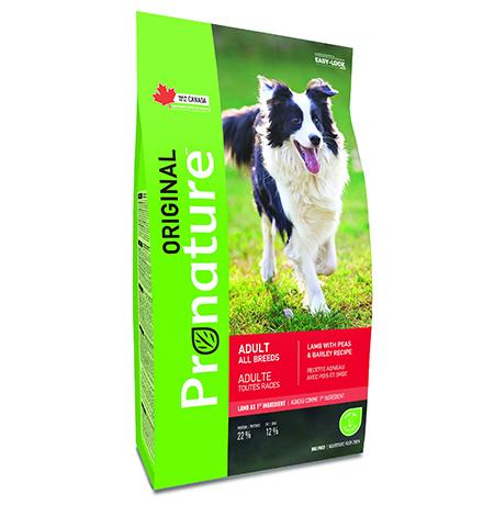 Pronature Original Adult All Breeds Lamb / Сухой корм Пронатюр для взрослых собак всех пород Ягненок горох ячмень
