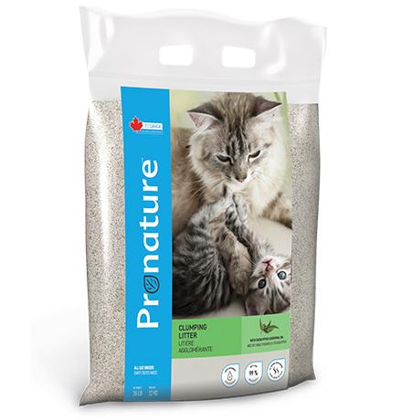 Pronature Clumping Litter with Eucalyptus essential oil / Наполнитель Пронатюр для кошачьего туалета с эфирным маслом Эвкалипта