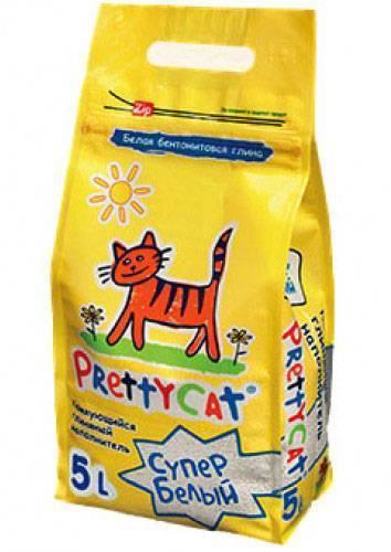 PrettyCat Super White / Наполнитель для кошачьего туалета ПриттиКэт Супер Белый Бентонитовый Комкующийся
