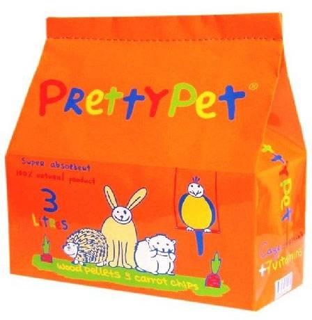 PrettyPet / Наполнитель ПриттиКэт для Грызунов и Птиц Древесный с Морковными чипсами