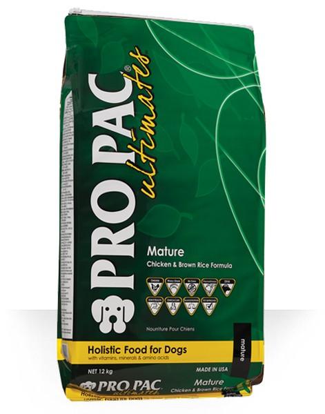 Pro Pac Ultimate Mature Chicken & Brown Rice / Сухой корм Про Пак Алтимейт для Пожилых собак с Курицей и бурым рисом