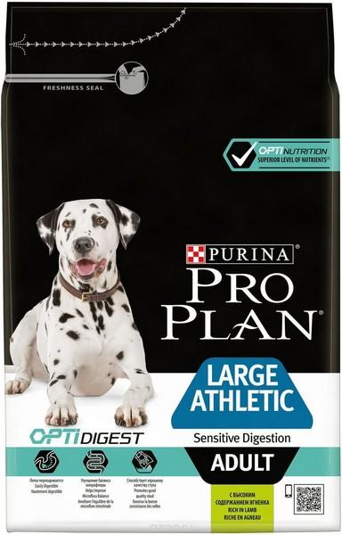 Purina Pro Plan Large Athletic Adult Sensitive Digestion Lamb/ Сухой корм Пурина Про План для собак Крупных пород с Атлетическим телосложением Чувствительным пищеварением Ягненок и рис