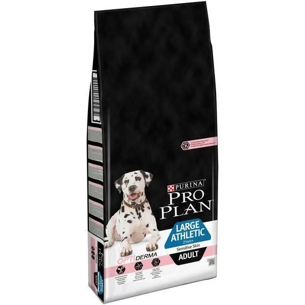 Purina Pro Plan Large Athletic Adult Sensitive Skin Salmon / Сухой корм Пурина Про План для собак Крупных пород с Атлетическим телосложением Чувствительная кожа Лосось и рис