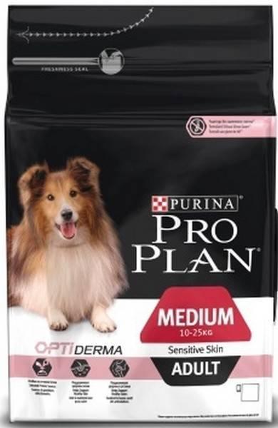 Purina Pro Plan Medium Adult Sensitive Skin / Сухой корм Пурина Про План для собак с чувствительной кожей Лосось и рис
