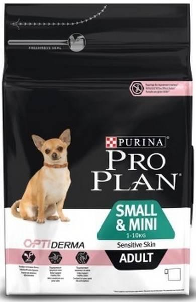 Purina Pro Plan Small & Mini Adult Sensitive Skin / Сухой корм Пурина Про План для взрослых собак Мелких и миниатюрных пород с чувствительной кожей Лосось и рис