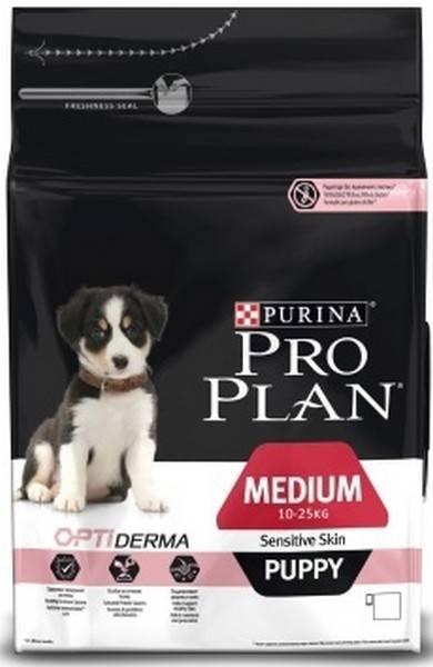 Purina Pro Plan Medium Puppy Sensitive Skin / Сухой корм Пурина Про План для щенков с чувствительной кожей Лосось и рис