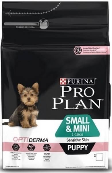 Purina Pro Plan Small & Mini Puppy Sensitive Skin / Сухой корм Пурина Про План для Щенков Мелких и миниатюрных пород с чувствительной кожей Лосось с рисом
