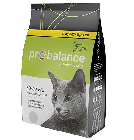 Probalance Sensitive / Корм Пробаланс для взрослых кошек с Чувствительным пищеварением Курица рис