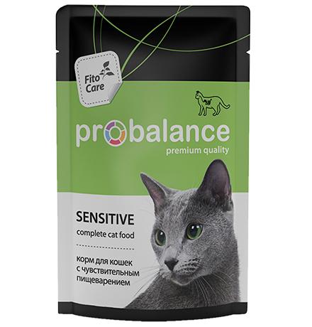 Probalance Sensitive / Паучи Пробаланс для кошек с Чувствительным пищеварением (цена за упаковку)