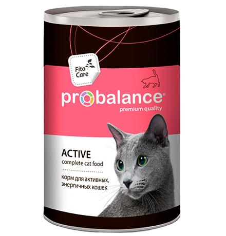 Probalance Active / Консервы Пробаланс для Активных кошек (цена за упаковку)