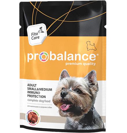 Probalance Adult Small & Medium Immuno Protection / Паучи Пробаланс для взрослых собак Мелких и Средних пород (цена за упаковку)