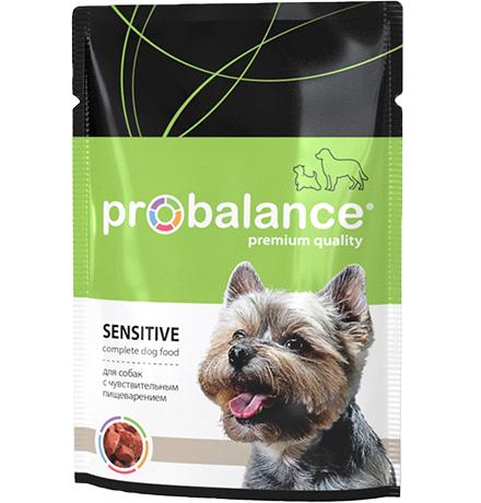 Probalance Adult Sensitive / Паучи Пробаланс для взрослых собак с Чувствительным пищеварением (цена за упаковку)