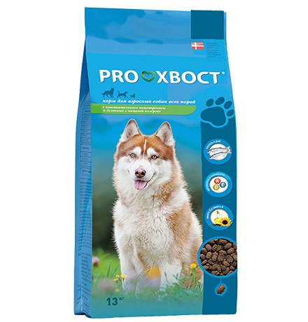 ProХвост / Корм Прохвост для собак с Чувствительным пищеварением и склонных к аллергии Лосось рис