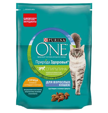Purina One Природа здоровья / Сухой корм Пурина Уан для взрослых кошек Курица