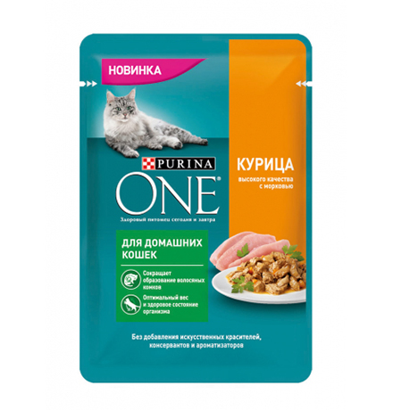 Purina One / Паучи Пурина Уан для Домашних кошек Курица (цена за упаковку)