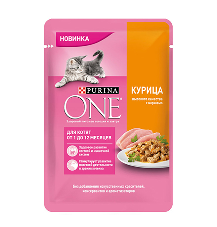 Purina One / Паучи Пурина Уан для Котят Курица (цена за упаковку)