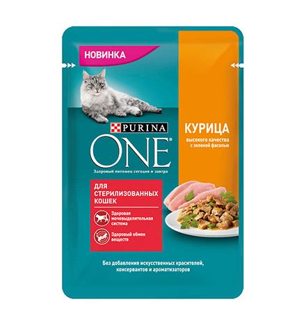 Purina One / Паучи Пурина Уан для Стерилизованных кошек Курица (цена за упаковку)