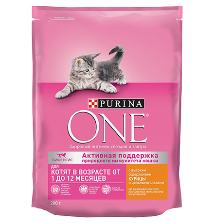 Purina One / Сухой корм Пурина Уан для Котят от 1 до 12 месяцев Курица и цельные злаки