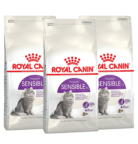 Royal Canin Sensible / Сухой корм Роял Канин Сенсибл для кошек с Чувствительным пищеварением