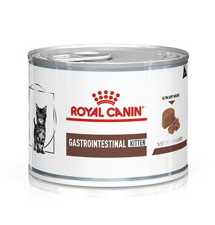 Royal Canin Kitten Gastrointestinal / Ветеринарный влажный корм (Консервы) Роял Канин Гастроинтестинал для Котят от 2 до 10 месяцев при Нарушениях пищеварения  (цена за упаковку)