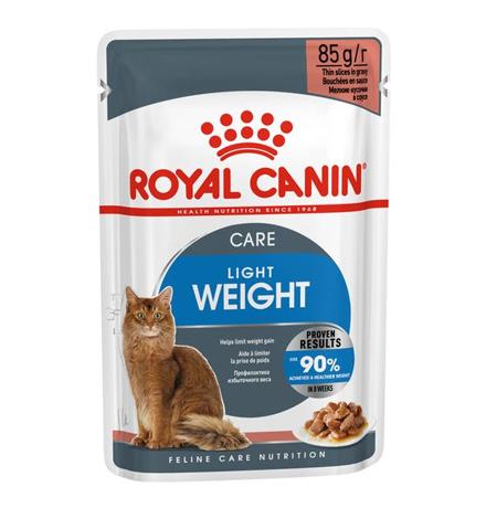 Royal Canin Light Weight Care Gravy / Влажный корм (Консервы-Паучи) Роял Канин Лайт Вейт Кэа для кошек Профилактика лишнего веса в Соусе (цена за упаковку)
