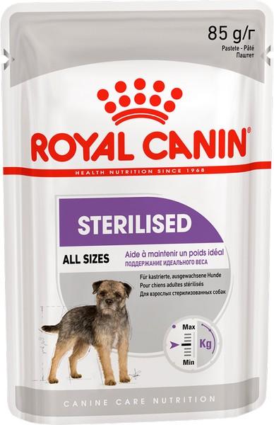 Royal Canin Adult Sterilised / Влажный корм (паштет) Роял Канин Стерилайзд для взрослых Стерилизованных собак всех размеров (цена за упаковку)