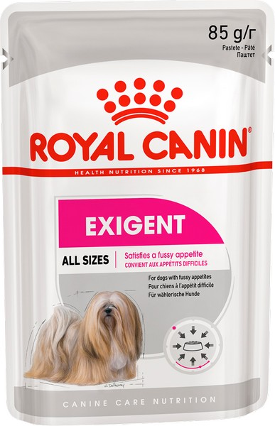 Royal Canin Adult Exigent Care / Влажный корм (паштет) Роял Канин Экзиджент Кэа для собак всех размеров Привередливых в питании (цена за упаковку)