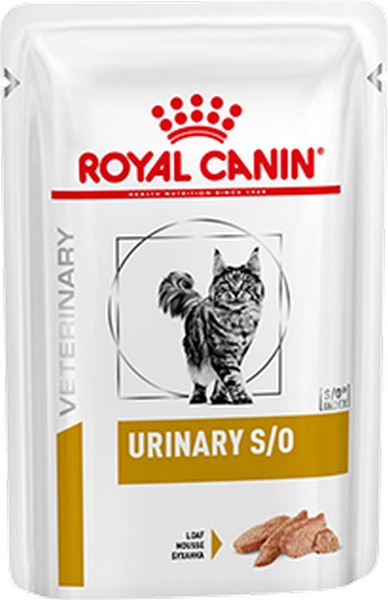 Royal Canin Urinary S/O / Ветеринарный влажный корм (Паштет) Роял Канин Уринари для кошек при заболеваниях дистального отдела мочевыделительной системы (цена за упаковку)
