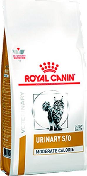 Royal Canin Urinary S/O Moderate Calorie / Ветеринарный сухой корм Роял Канин Уринари для кошек с умеренным содержанием энергии при лечении мочекаменной болезни