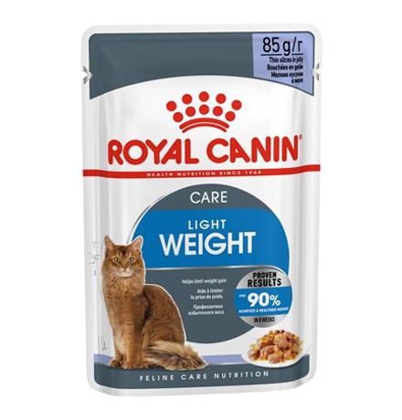 Royal Canin Light Weight Care Jelly / Влажный корм (Консервы-Паучи) Роял Канин Лайт Вейт Кэа для кошек Профилактика лишнего веса в Желе (цена за упаковку)
