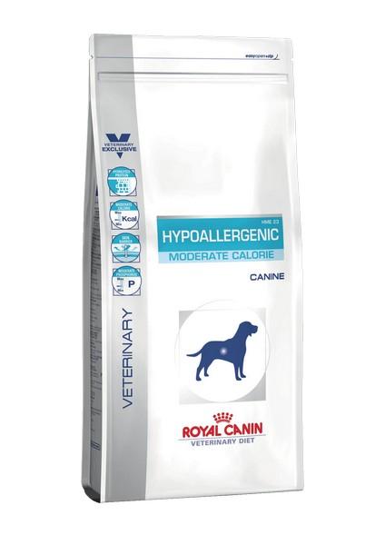 Royal Canin Hypoallergenic Moderate Energy HME23 / Ветеринарный сухой корм Роял Канин Гипоаллергенный для собак с Пищевой аллергией и непереносимостью Низкокалорийный