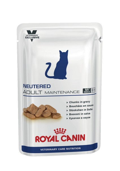 Royal Canin Neutered Adult Maintenance / Ветеринарный влажный корм (Консервы-Паучи) Роял Канин Ньютеред Эдалт Мэйнтенэнс для Взрослых Кастрированных котов и Стерилизованных кошек (цена за упаковку)