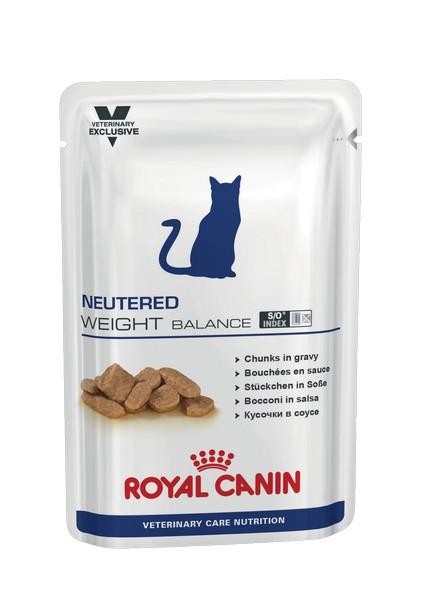 Royal Canin Neutered Weight Balance / Ветеринарный влажный корм (Консервы-Паучи) Роял Канин Ньютеред Вэйт Баланс для Кастрированных котов и Стерилизованных кошек Склонных к полноте (цена за упаковку)