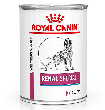 Royal Canin Renal Special Canine / Ветеринарный влажный корм (Консервы) Роял Канин Ренал Спешиал для собак Заболевание почек (хроническая почечная недостаточность) (Цена за упаковку)